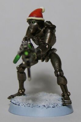 The First Christmas Themed Necron I Made in 2008, Front View