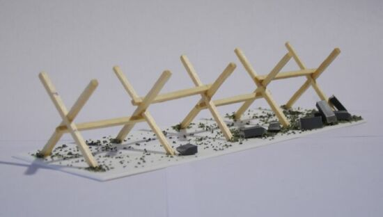 Work In Progress - Barbed Wire Barricade